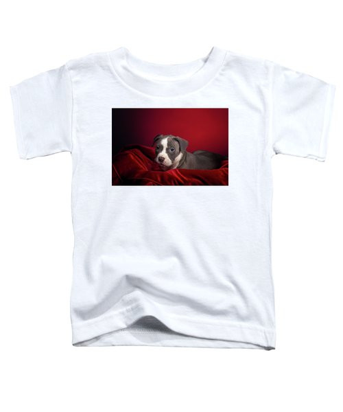 American Pitbull Puppy Toddler T-Shirt