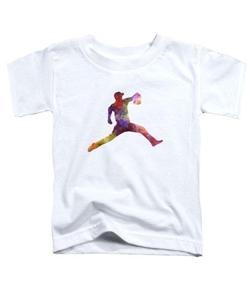 Baseball Player Throwing A Ball Toddler T-Shirt