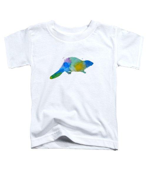 Beaver Silhouette Toddler T-Shirt