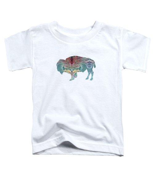 Bison Toddler T-Shirt by Mordax Furittus
