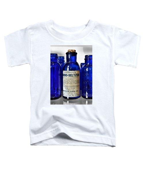Bromo Seltzer Vintage Glass Bottles Collection Toddler T-Shirt