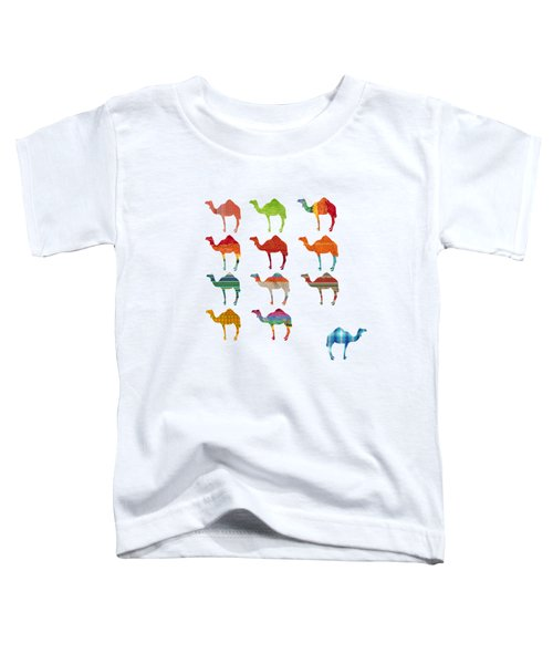 Camels Toddler T-Shirt by Art Spectrum