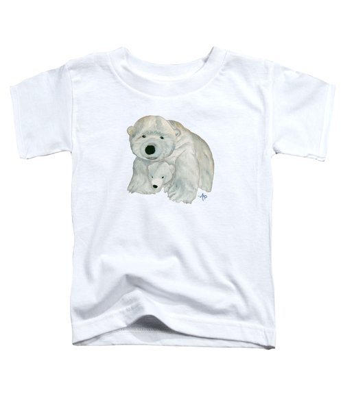 Cuddly Polar Bear Toddler T-Shirt by Angeles M Pomata