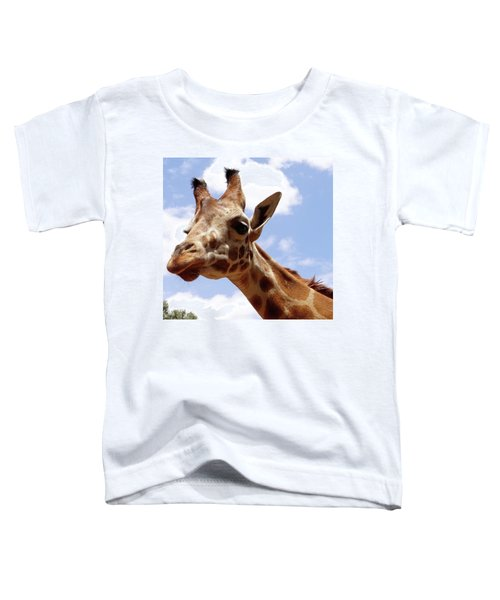 Giraffe Getting Personal 6 Toddler T-Shirt