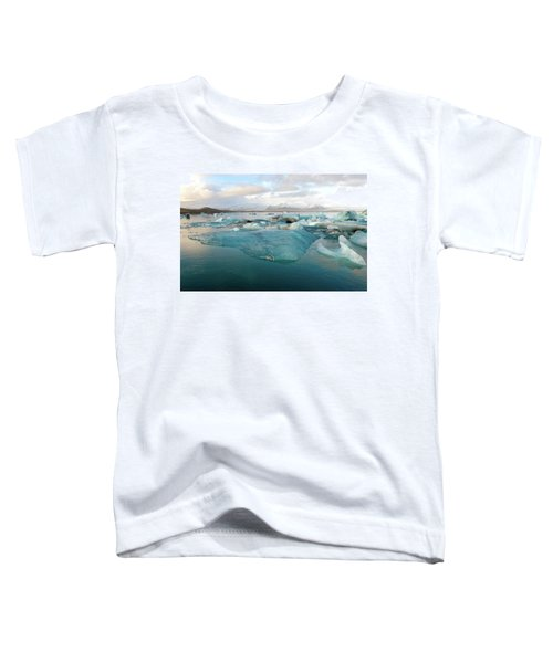 Jokulsarlon The Glacier Lagoon, Iceland 2 Toddler T-Shirt by Dubi Roman
