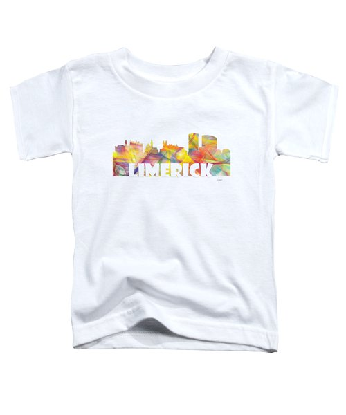 Limerick Ireland Skyline Toddler T-Shirt by Marlene Watson