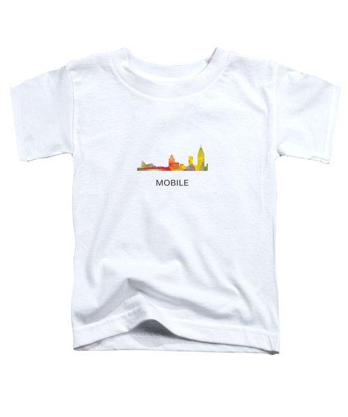 Mobile Alabama Skyline Toddler T-Shirt by Marlene Watson