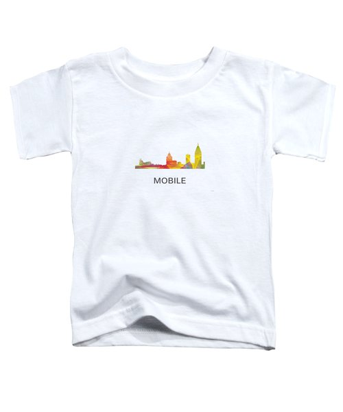 Mobile Alabama Skyline Toddler T-Shirt