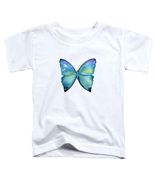 2 Morpho Aega Butterfly Toddler T-Shirt