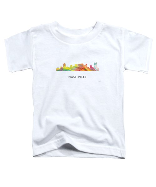 Nashville Tennessee Skyline Toddler T-Shirt by Marlene Watson