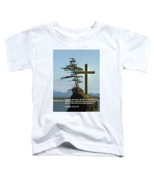 On This Rock I Will Build My Church Toddler T-Shirt