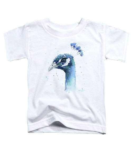 Peacock Watercolor Toddler T-Shirt