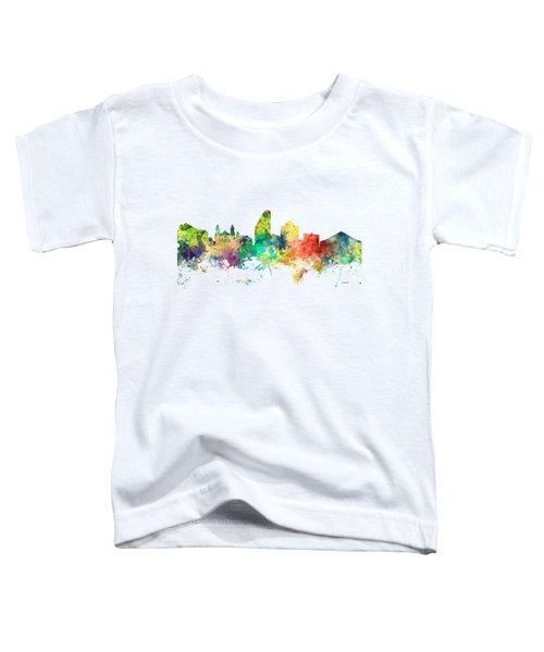 San Jose California Skyline Toddler T-Shirt by Marlene Watson