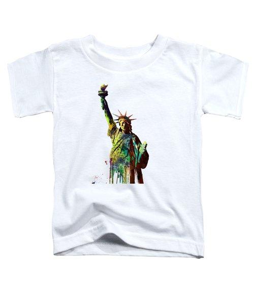 Statue Of Liberty Toddler T-Shirt by Marlene Watson