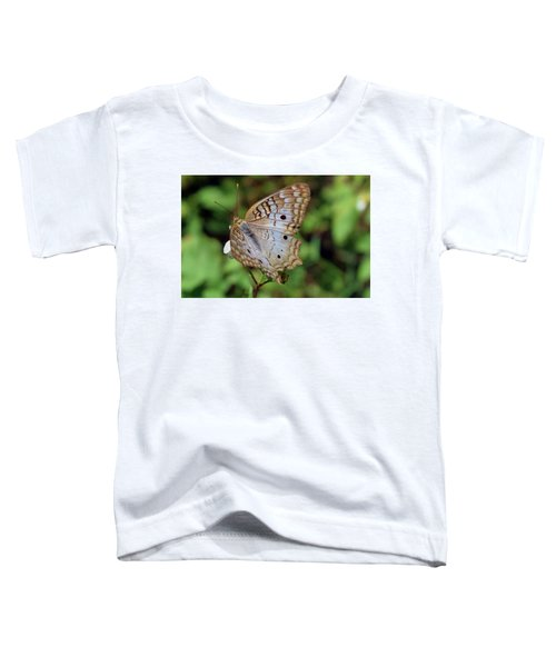 White Peacock Butterfly Toddler T-Shirt
