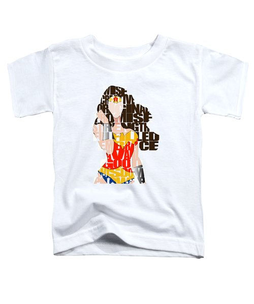 Wonder Woman Inspirational Power And Strength Through Words Toddler T-Shirt