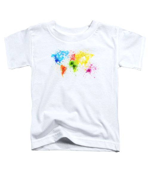 World Map Painting Toddler T-Shirt