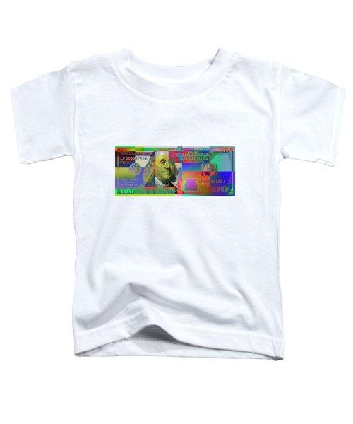 2009 Series Pop Art Colorized U. S. One Hundred Dollar Bill No. 1 Toddler T-Shirt