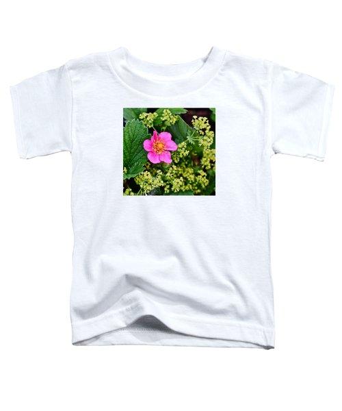 2015 Summer's Eve At The Garden Lipstick Strawberry Toddler T-Shirt