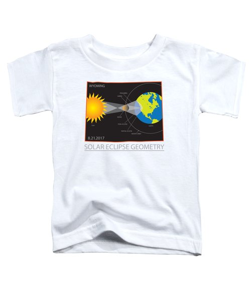 2017 Solar Eclipse Geometry Wyoming State Map Illustration Toddler T-Shirt
