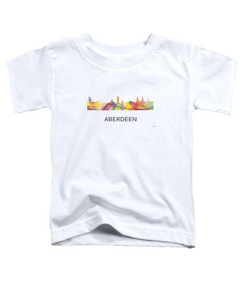 Aberdeen Scotland Skyline Toddler T-Shirt