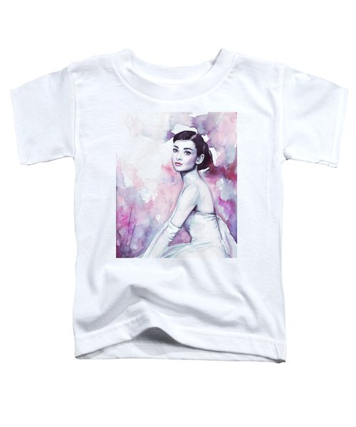 Audrey Hepburn Portrait Toddler T-Shirt