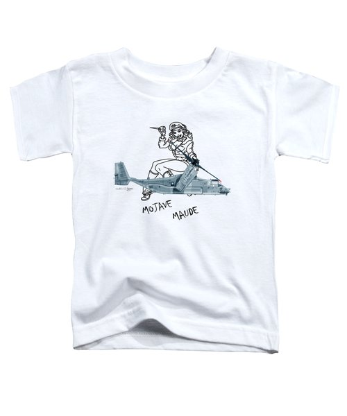 Bell Boeing Cv-22b Osprey Mojave Maude Toddler T-Shirt by Arthur Eggers