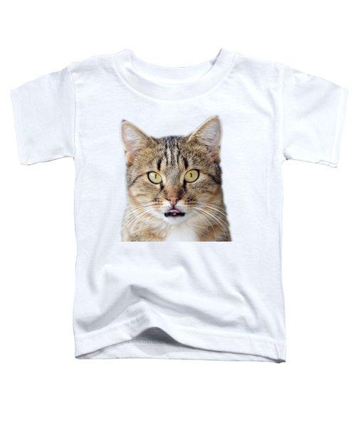Cat Portrait Toddler T-Shirt