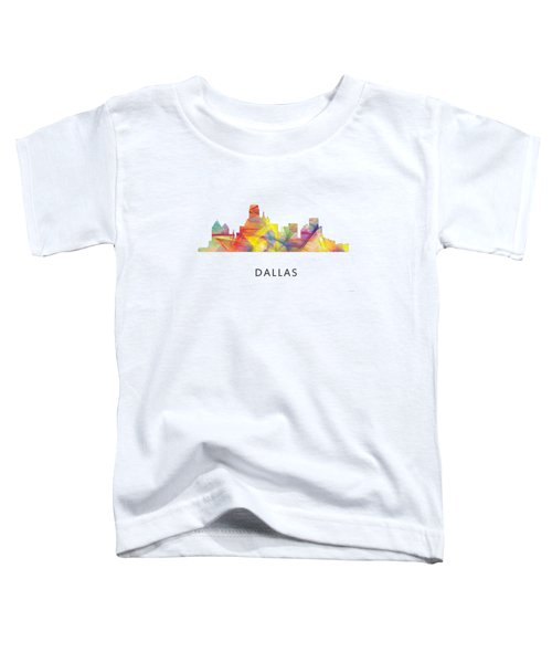 Dallas Texas Skyline Toddler T-Shirt by Marlene Watson