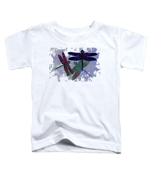 3 Dragonfly Toddler T-Shirt by Jack Zulli