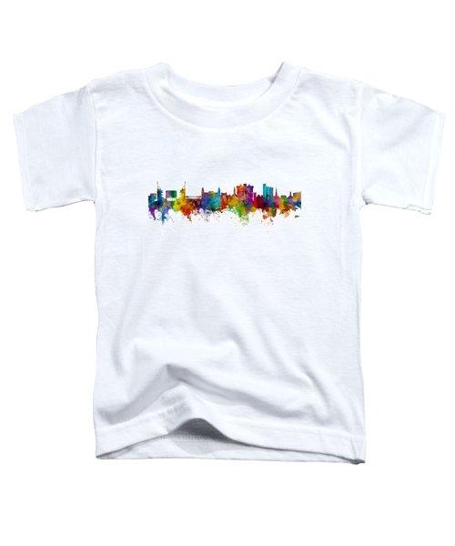 Fayetteville Arkansas Skyline Toddler T-Shirt by Michael Tompsett