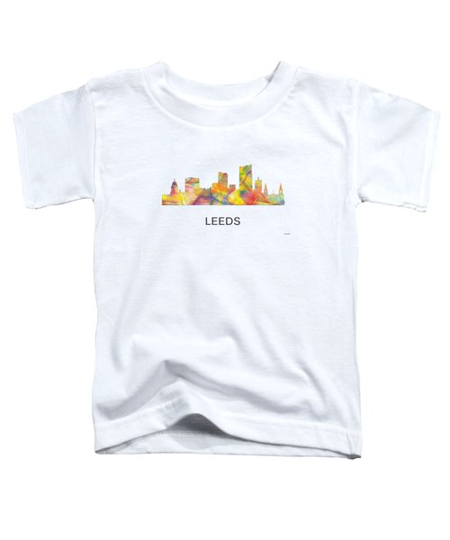 Leeds England Skyline Toddler T-Shirt by Marlene Watson