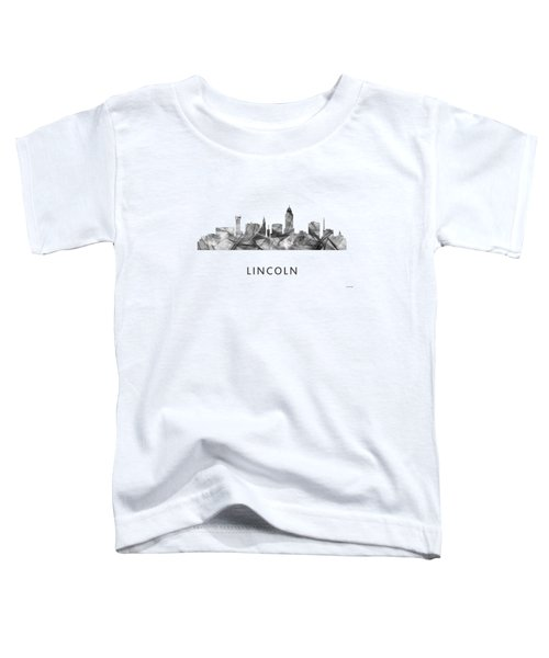 Lincoln Nebraska Skyline Toddler T-Shirt