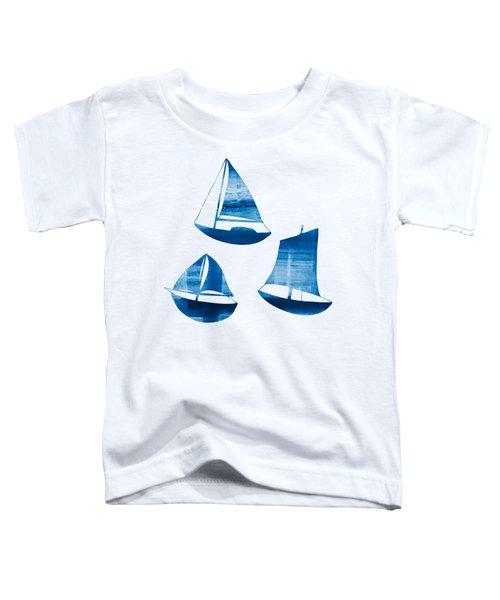 3 Little Blue Sailing Boats Toddler T-Shirt