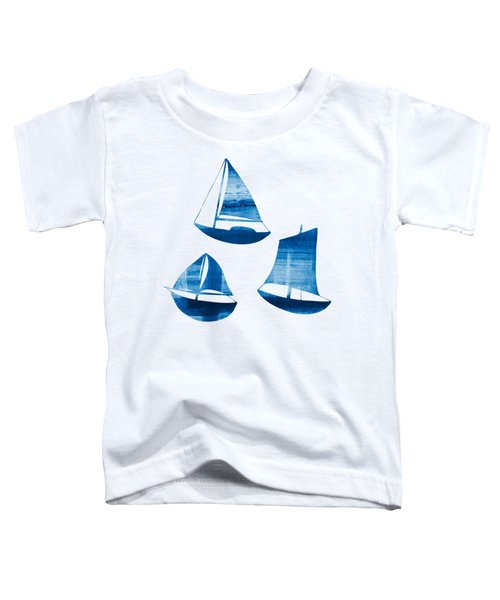 3 Little Blue Sailing Boats Toddler T-Shirt