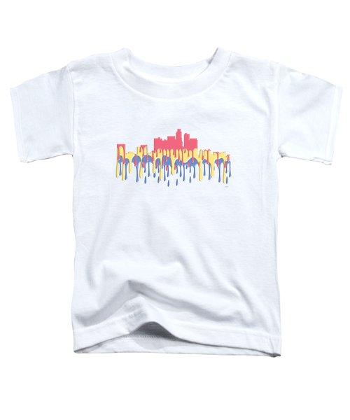 Los Angeles Ca Skyline Toddler T-Shirt by Marlene Watson