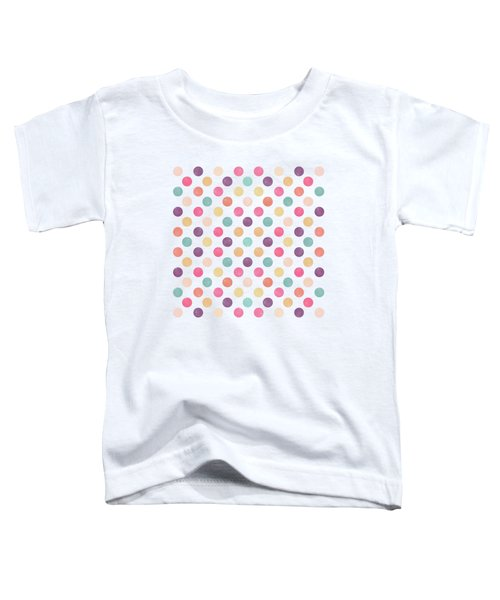 Lovely Polka Dots  Toddler T-Shirt by Amir Faysal