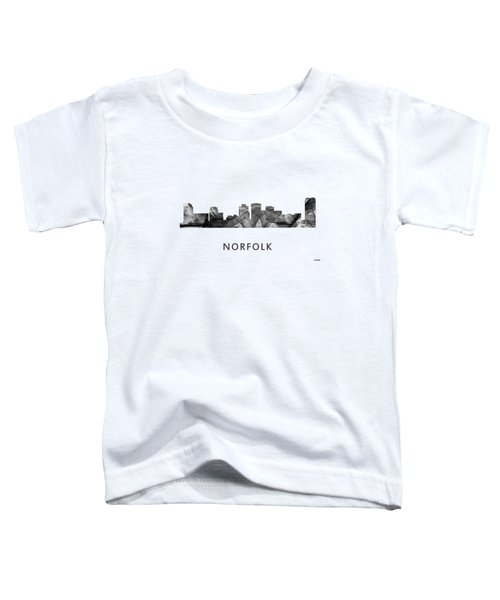Norfolk Virginia Skyline Toddler T-Shirt