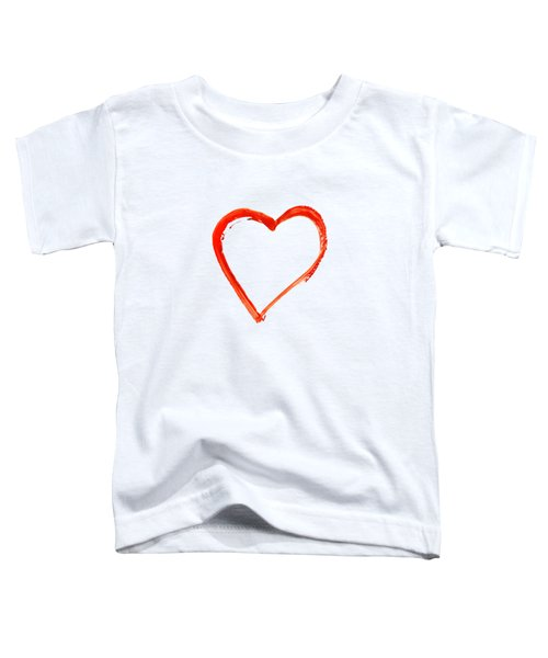 Painted Heart - Symbol Of Love Toddler T-Shirt