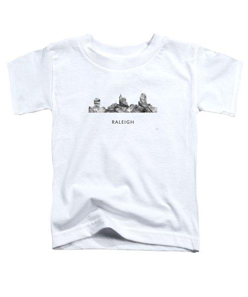 Raleigh North Carolina Skyline Toddler T-Shirt by Marlene Watson