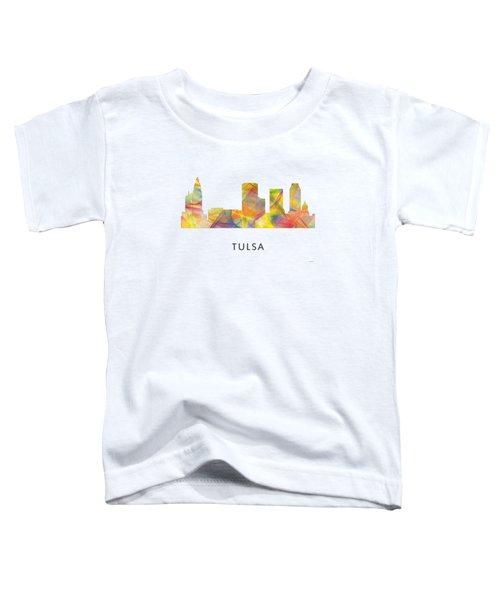 Tulsa Oklahoma Skyline Toddler T-Shirt by Marlene Watson