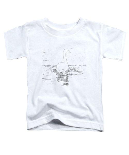 White Swan Swimming  Toddler T-Shirt