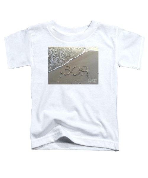 30a Beach Toddler T-Shirt by Megan Cohen