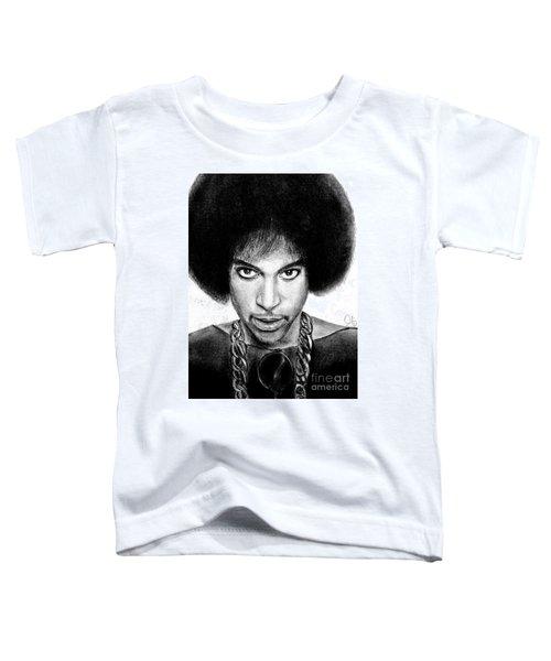 3rd Eye Girl - Prince Charcoal Portrait Drawing - Ai P Nilson Toddler T-Shirt