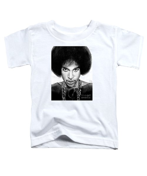 3rd Eye Girl - Prince Charcoal Portrait Drawing - Ai P Nilson Toddler T-Shirt