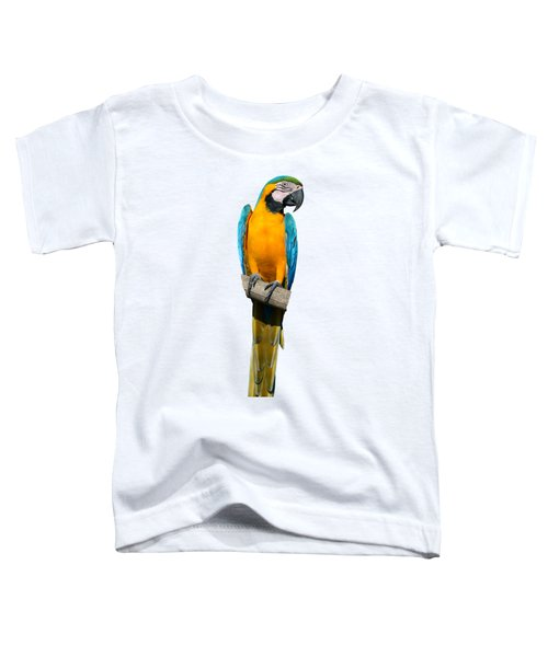 Blue And Gold Macaw Toddler T-Shirt by George Atsametakis