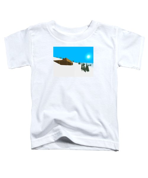 Low Poly Retro Style Frozen Land Toddler T-Shirt