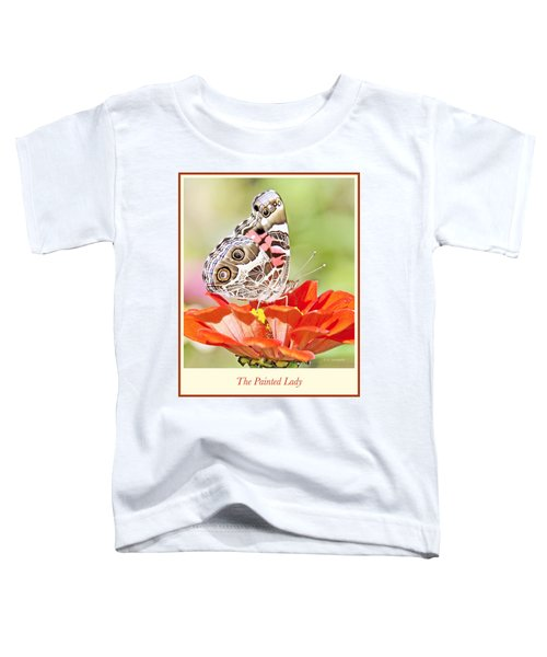 Painted Lady Butterfly On Zinnia Flower Toddler T-Shirt