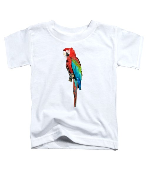Red And Green Macaw Toddler T-Shirt by George Atsametakis