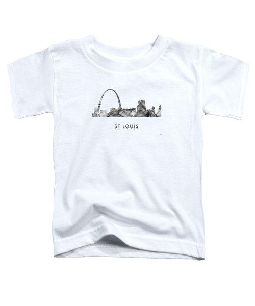 St Louis Missouri Skyline Toddler T-Shirt by Marlene Watson
